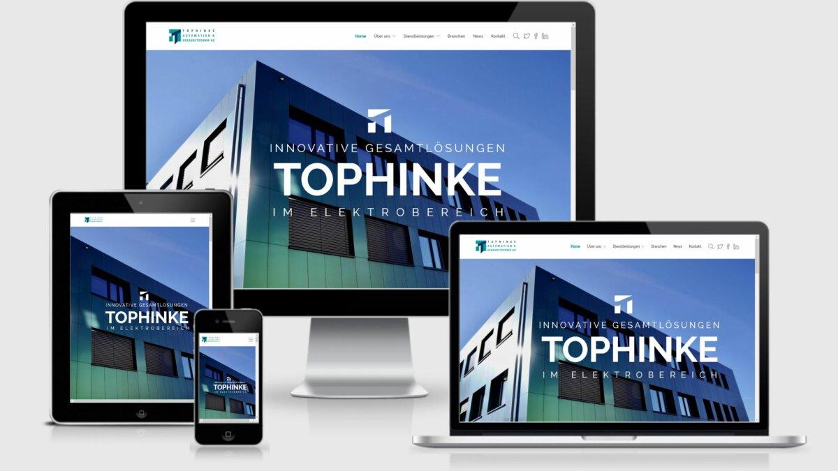 Tophinke - Launch neuer Webseite im responsive Design