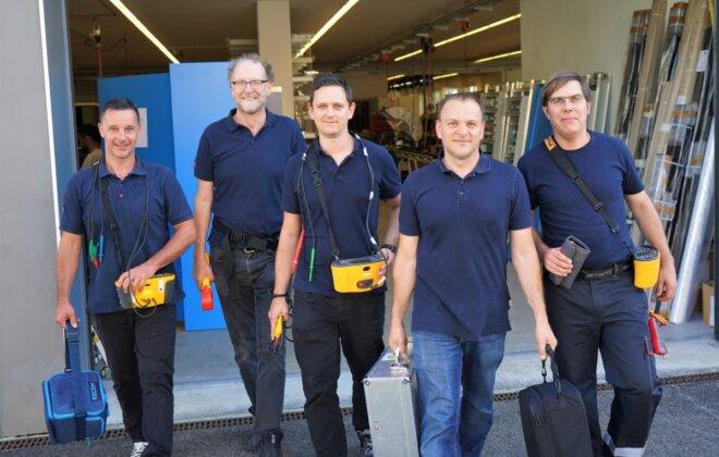 Team Elektrokontrolle Zentralschweiz Aargau Zürich